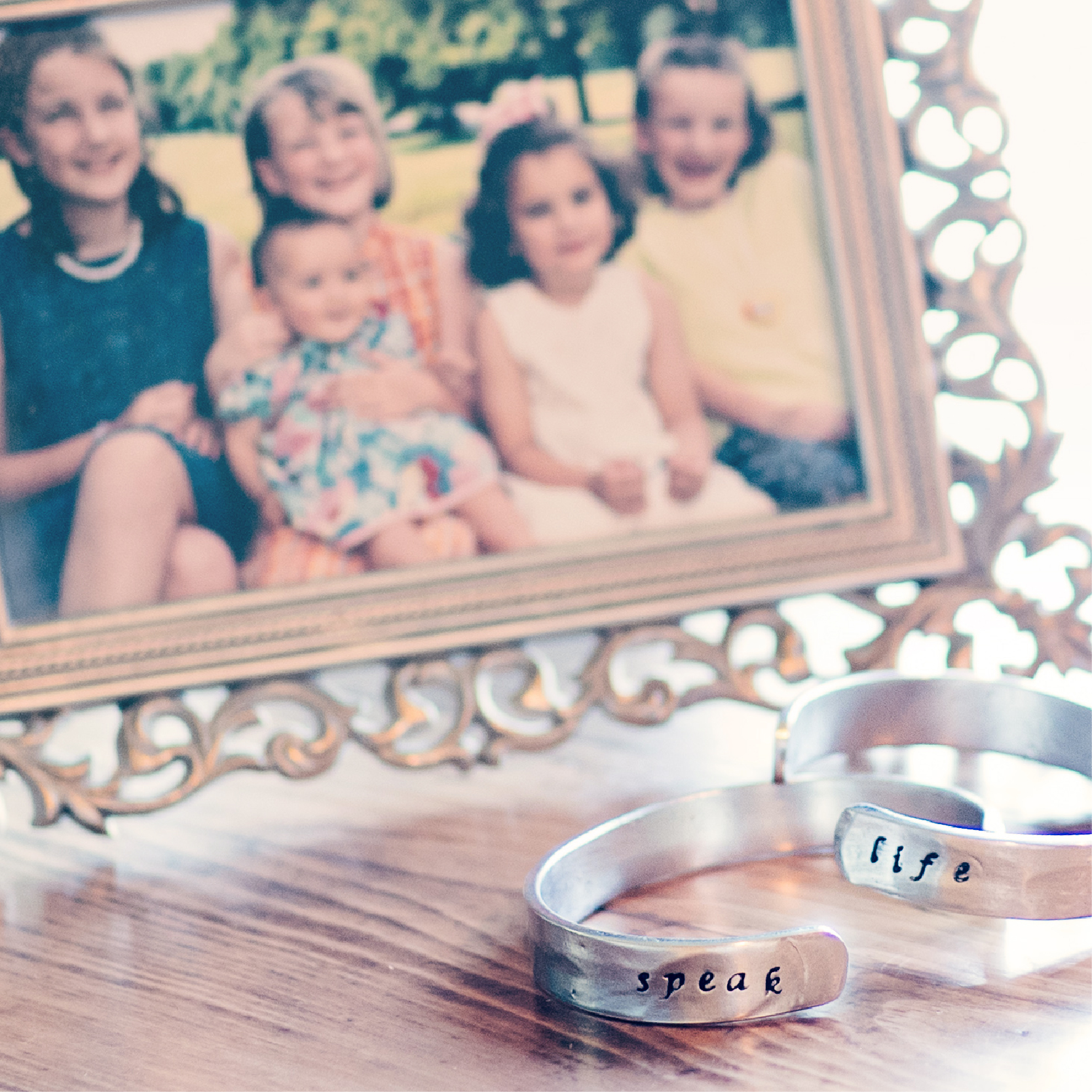 A Hand Stamped Bracelet with a Mission